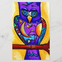 Purple male owl