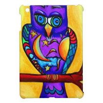 Purple male owl iPad mini cases