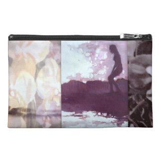 Purple Malibu Surfer Full Rainbow Orchid Clutch Travel Accessory Bag