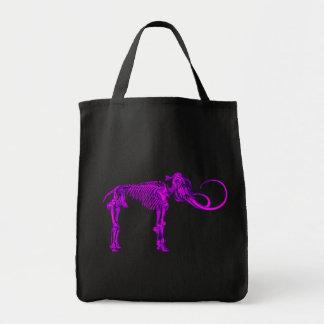 Purple Mammoth Skeleton Canvas Bag