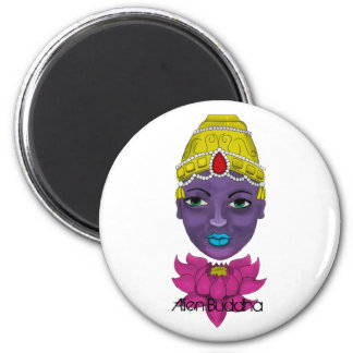 Purple Man And Lotus Flower magnet