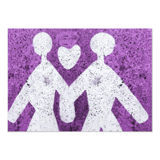 Purple man and women in love in Italy Card