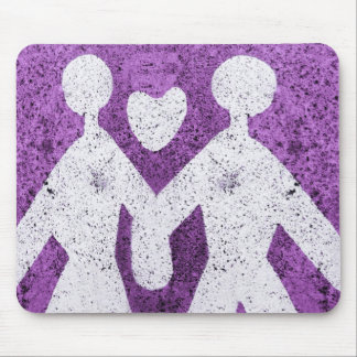 Purple man and women in love in Italy Mouse Pad