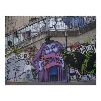 Purple Man Postcard
