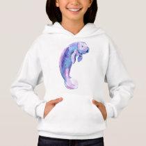 Purple manatee hoodie