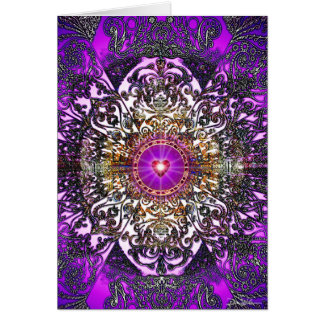 Purple Mandala Card