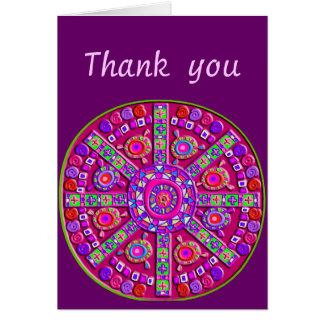 Purple Mandala Customizable Card