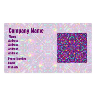 Purple Mandala Hippie Pattern Business Card
