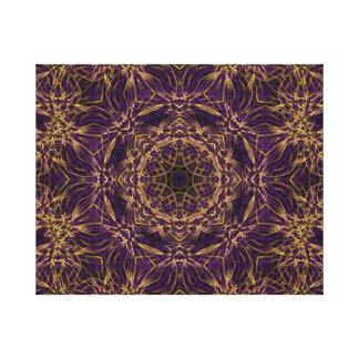 Purple Mandala Hippie Pattern Gallery Wrap Canvas