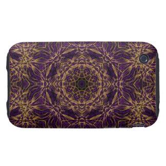 Purple Mandala Hippie Pattern Tough iPhone 3 Case