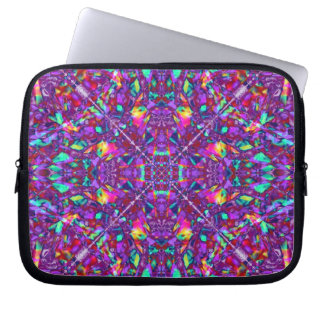 Purple Mandala Hippie Pattern Computer Sleeve