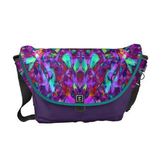 Purple Mandala Hippie Pattern Courier Bags