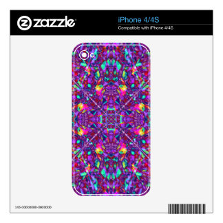 Purple Mandala Hippie Pattern Decals For iPhone 4S