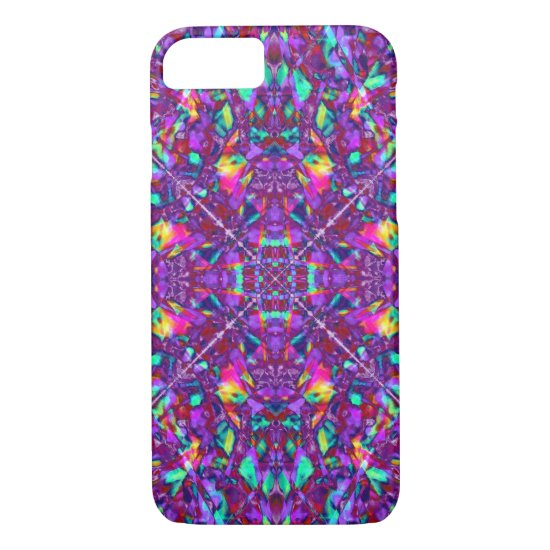 Purple Mandala Hippie Pattern iPhone 7 Case