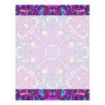 Purple Mandala Hippie Pattern Personalized Letterhead