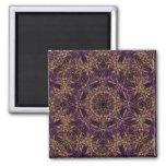 Purple Mandala Hippie Pattern Magnets
