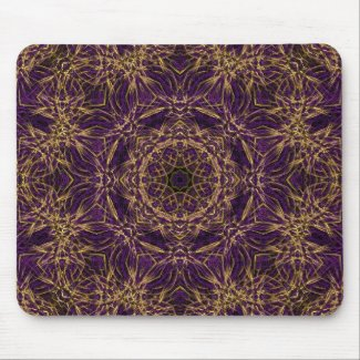 Purple Mandala Hippie Pattern Mouse Pad
