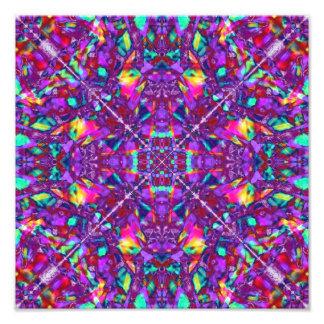 Purple Mandala Hippie Pattern Photo Print