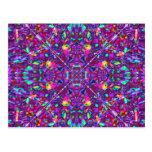 Purple Mandala Hippie Pattern Postcard
