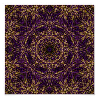 Purple Mandala Hippie Pattern Print