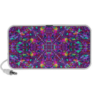 Purple Mandala Hippie Pattern Mini Speakers