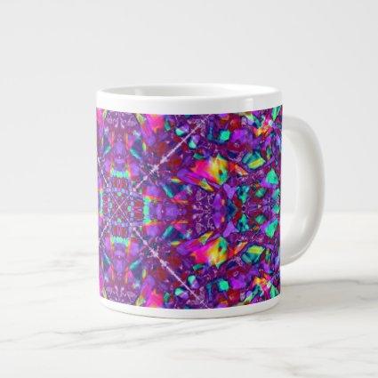 Purple Mandala Hippie Pattern 20 Oz Large Ceramic Coffee Mug