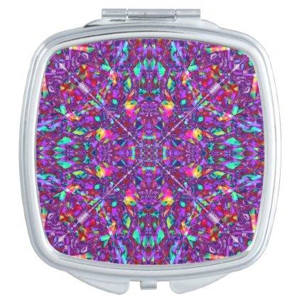 Purple Mandala Hippie Pattern Travel Mirrors