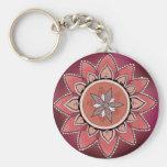 Purple Mandala Keychain
