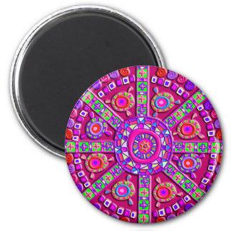 Purple Mandala Magnet