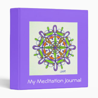 Purple Mandala Original Drawing Binder