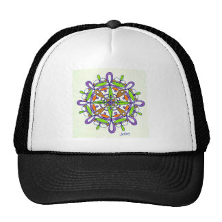 Purple Mandala Original Drawing Trucker Hat