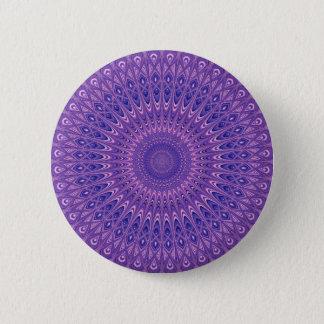 Purple mandala pinback button