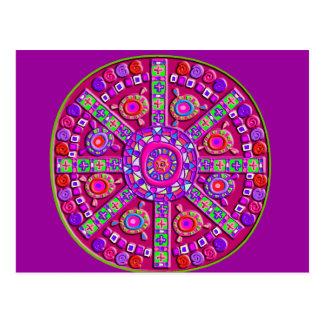 Purple Mandala Postcard