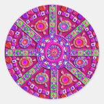 Purple Mandala Stickers