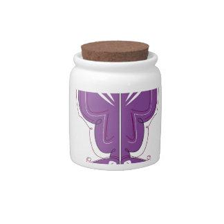 Purple mandalas on white. Original design Candy Dish