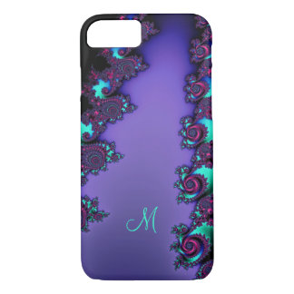 Purple Mandelbrot Fractal Design iPhone 7 Case