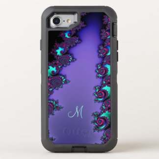 Purple Mandelbrot Fractal Design OtterBox Defender iPhone 7 Case