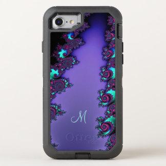 Purple Mandelbrot Fractal Design OtterBox Defender iPhone 8/7 Case