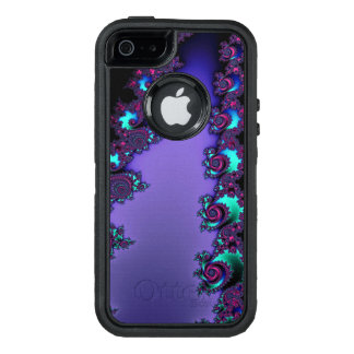 Purple Mandelbrot Fractal Design OtterBox Defender iPhone Case