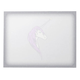 Purple Mane White Unicorn With Star Horn Notepad