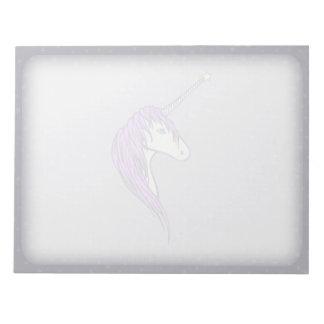 Purple Mane White Unicorn With Star Horn Notepad