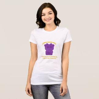 Purple Maneki Neko Both Paws NEW T-Shirt