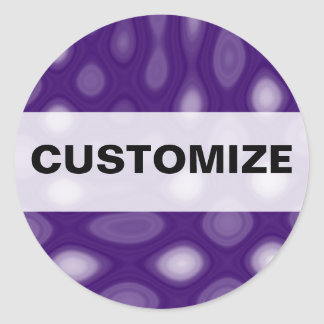 Purple Mania Classic Round Sticker