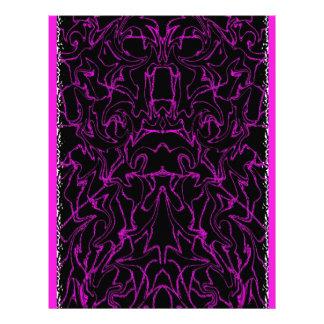 Purple Marble Bling Pattern Letterhead