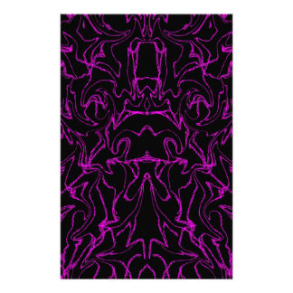 Purple Marble Bling Pattern Stationery