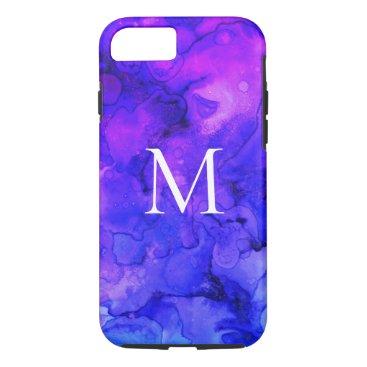 Purple Marble Custom Monogram iPhone 8/7 Case