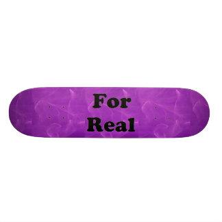 Purple Marble Skateboard Deck