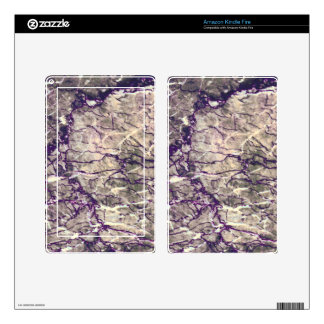 Purple Marble Stone Decal For Kindle Fire