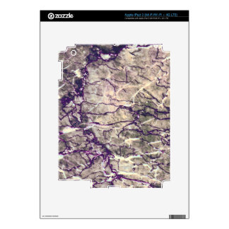 Purple Marble Stone iPad 3 Decal