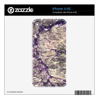 Purple Marble Stone Skin For iPhone 4S